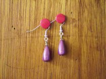 Purple miracle earrings