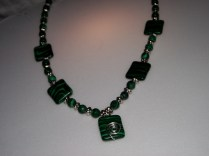 Christine's malachite green necklace 001