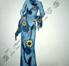 fasion design dress painting