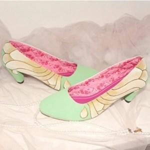 shoes painting butterfly design