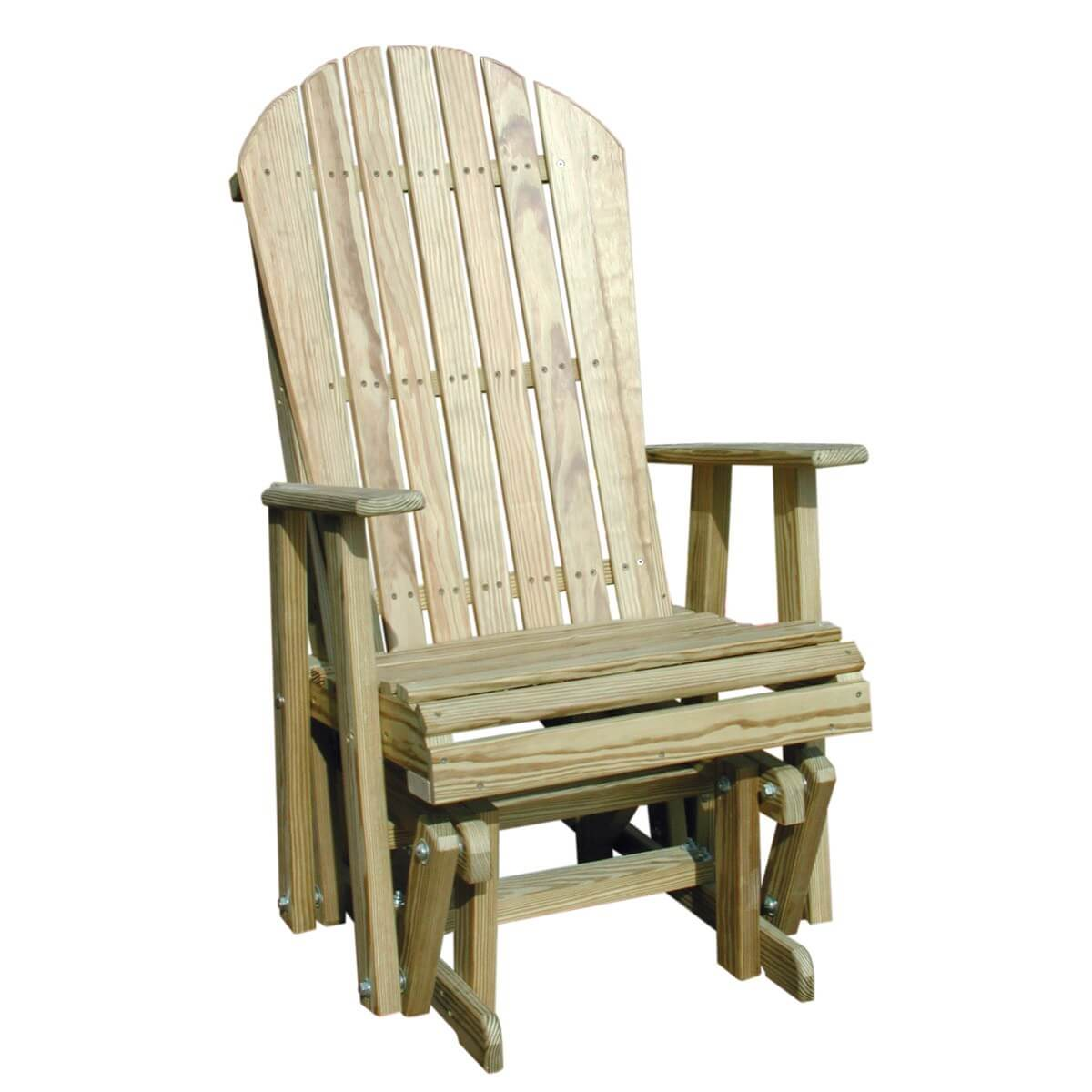 LuxCraft Wood Adirondack Glider Chair 2  Hostetlers