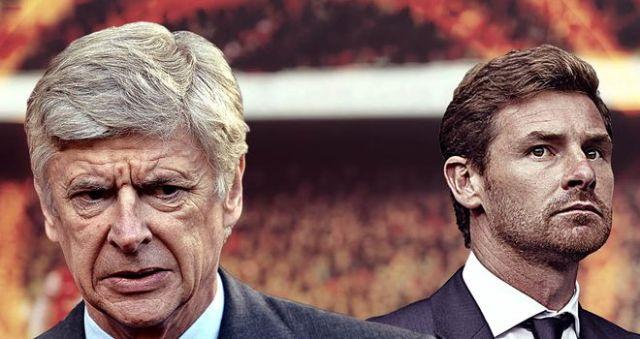 Arsene Wenger & Andre Villas Boas preparing for first north London derby of the season