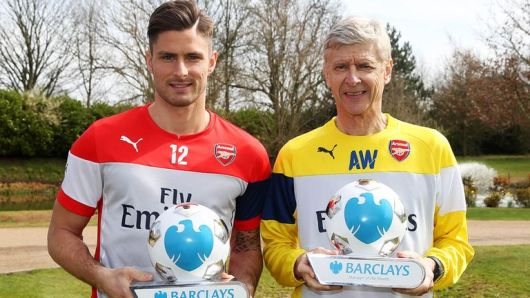 Arsene Wenger and Oliver Giroud win monthly awards for March