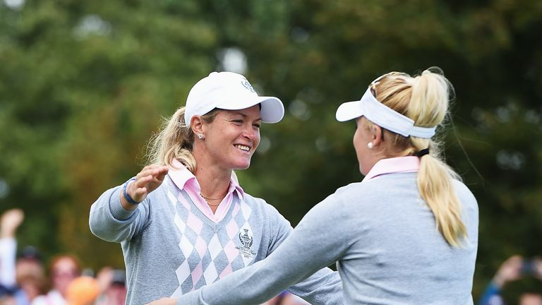Suzann Pettersen partnered Charley Hull at the Solheim Cup two years ago