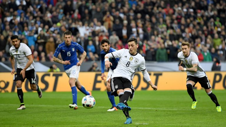 Arsenal's Mesut Ozil is in Germany's squad