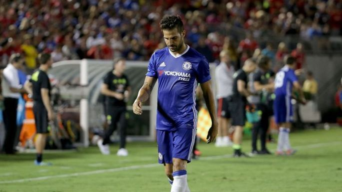 Cesc Fabregas has started just one Premier League game for Chelsea this season