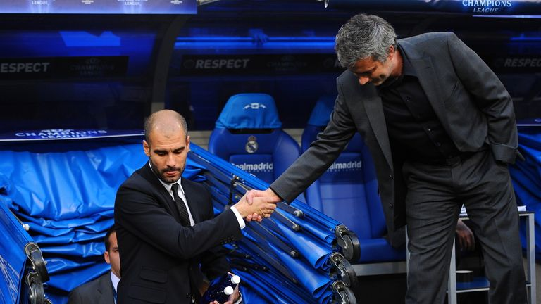 Guardiola and Mourinho are set to go head-to-head in Beijing on Monday