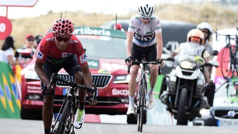 Nairo Quintana (left) will beat Chris Froome (right) into second place overall