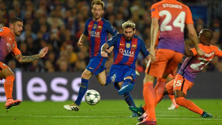 Image result for Barcelona 4- 0 Manchester City: Lionel Messi hat trick in Guardiola's return