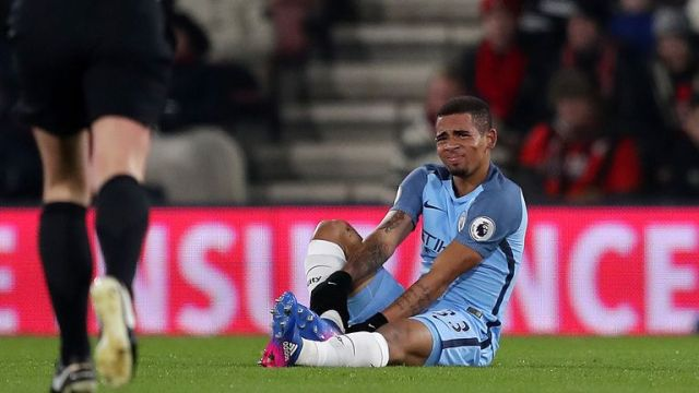 Gabriel Jesus made an immediate impact at Man City before suffering a metatarsal fracture