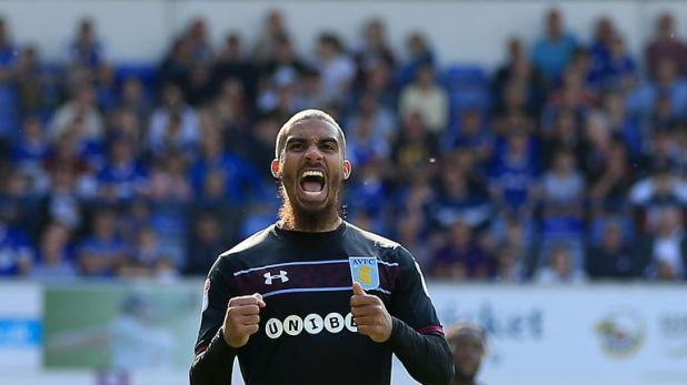 Lewis Grabban has scored eight goals in 17 appearances since joining Aston Villa on loan