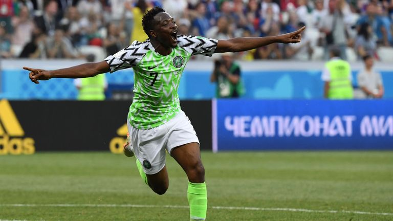 Ahmed Musa scored twice for Nigeria in their last game against Iceland