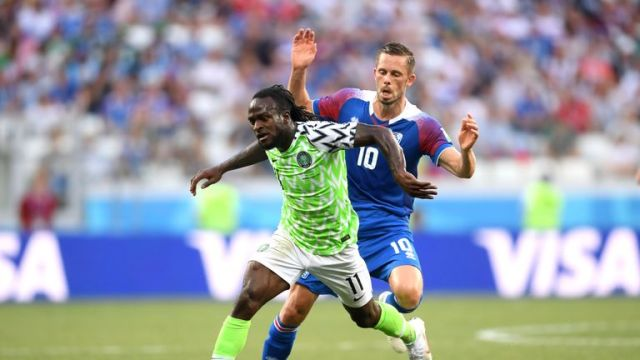 Moses played every minute of Nigeria's World Cup campaign in Russia