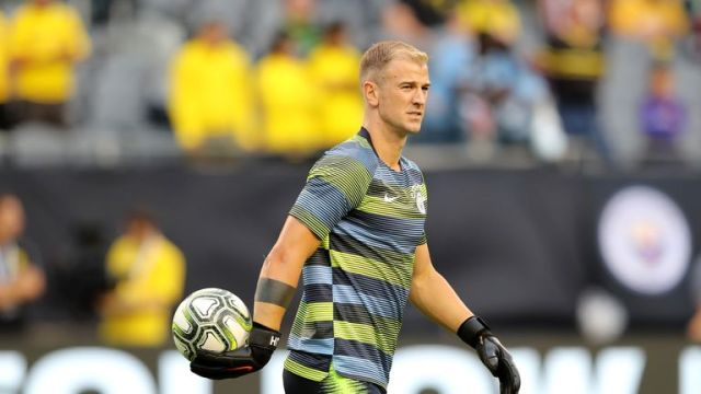 Joe Hart made a rare appearance for Man City in Chicago