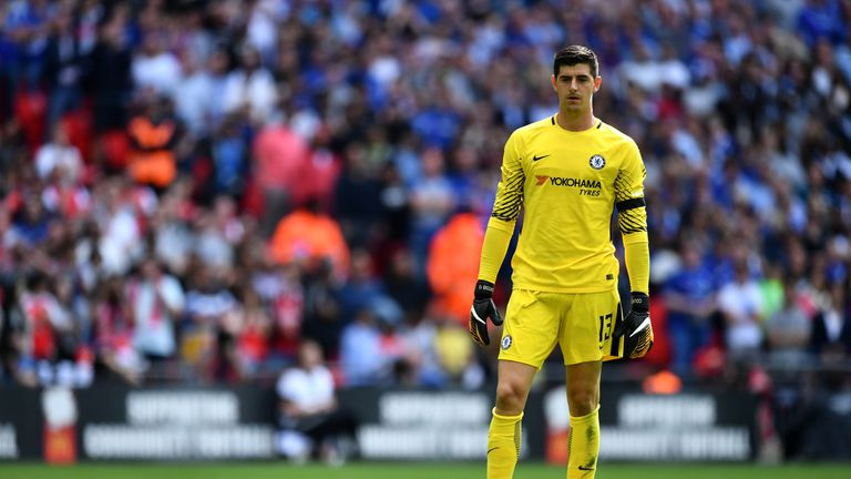 Thibaut Courtois is hoping to conclude a deal to Real Madrid before Thursday's 5pm deadline