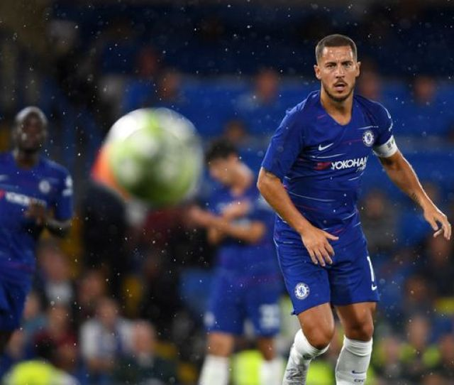 Eden Hazard Received A Warm Reception From Chelsea Supporters On His Return To Action At Stamford