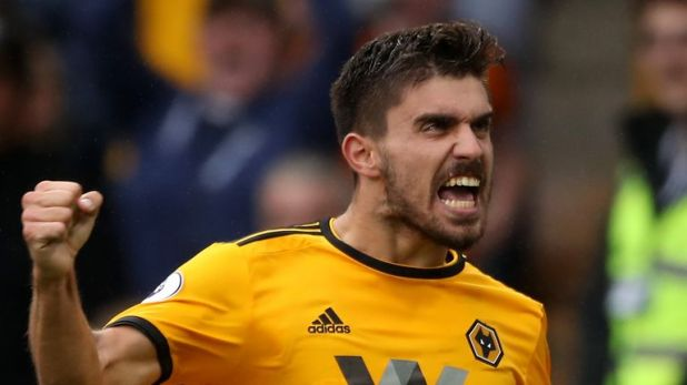 Ruben Neves attempted more shots than any Wolves player against Manchester City, hitting four from outside the box - three were on target