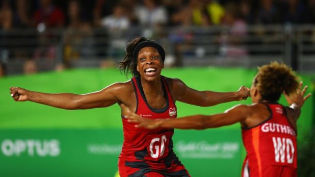 Eboni Beckford-Chambers in action during the Commonwealth Games