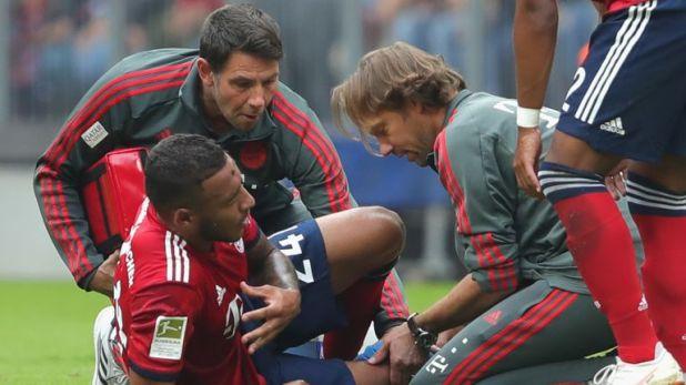 Corentin Tolisso was injured in Bayern Munich's 3-1 win on Saturday
