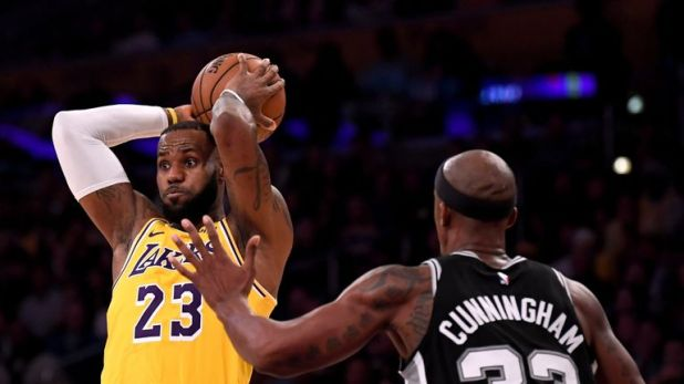 LeBron James suffered his third successive defeat with the Los Angeles Lakers