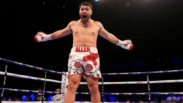 David Allen celebrates another stoppage win