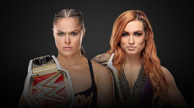 Becky Lynch and Ronda Rousey clash at Survivor Series in a meeting of WWE's women's champions
