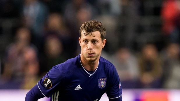 Anderlecht's James Lawrence has earned an international call-up with Wales