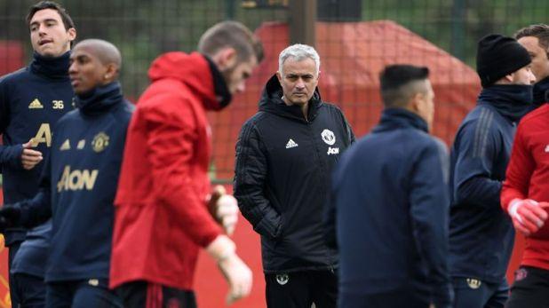 Jose Mourinho led United's training on Tuesday