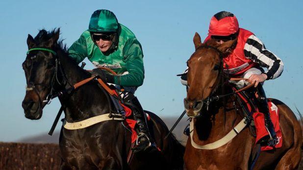 Sceau Royal (left) makes a winning return at Cheltenham