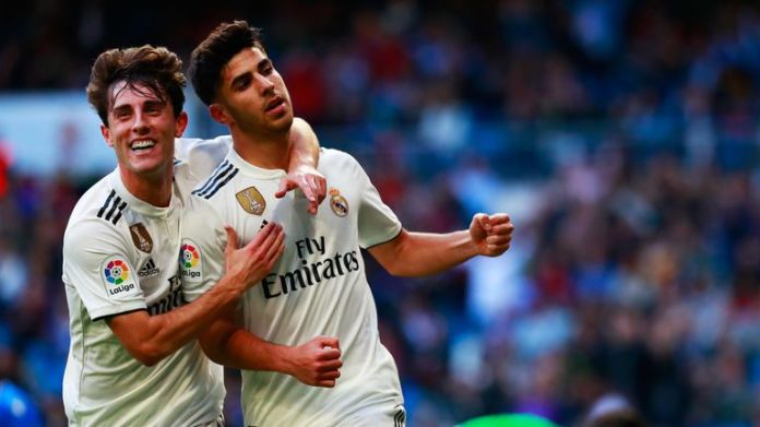 Marco Asensio also scored two goals against Mellilla
