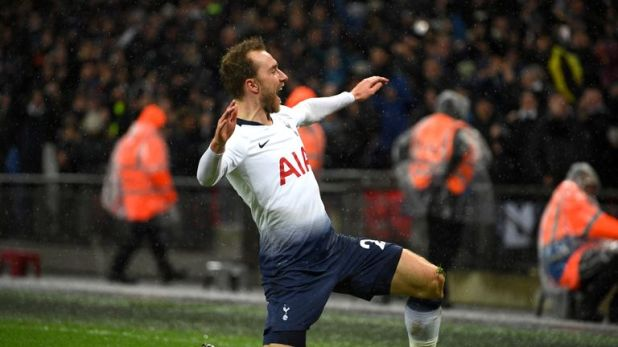 Christian Eriksen's last-minute winner against Burnley kept Tottenham within six points of the leaders
