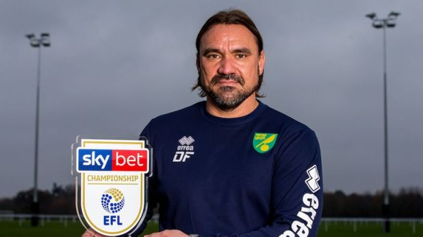 Daniel Farke is the Sky Bet Championship Player of the Month for November