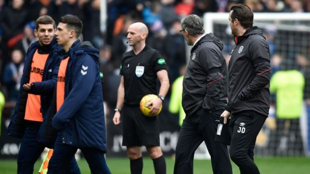 Levein's Hearts were recently on the receiving end of controversial decisions