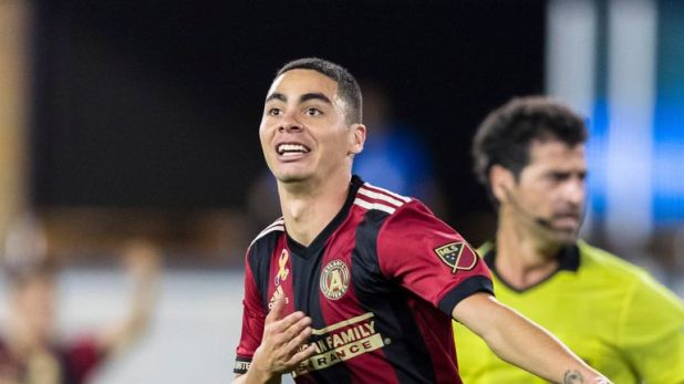 Miguel Almiron has been linked with Newcastle (Pic: John Hefti-USA TODAY Sports)