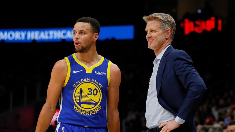 Stephen Curry's play has coach Steve Kerr smiling
