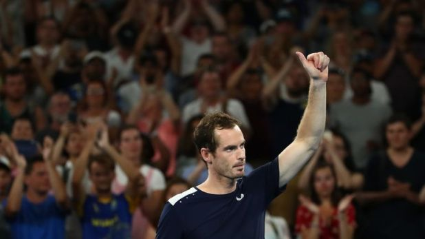 Murray was given huge backing inside the Melbourne Arena