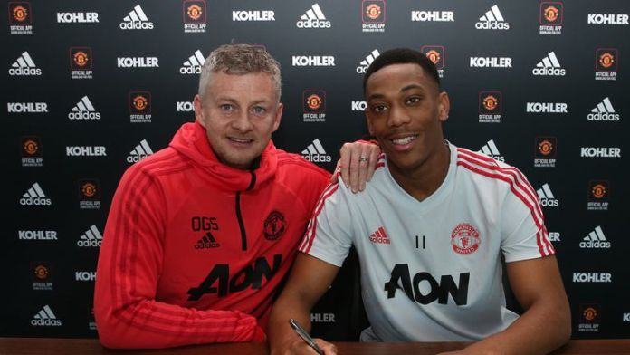 Image result for anthony martial signed new contract