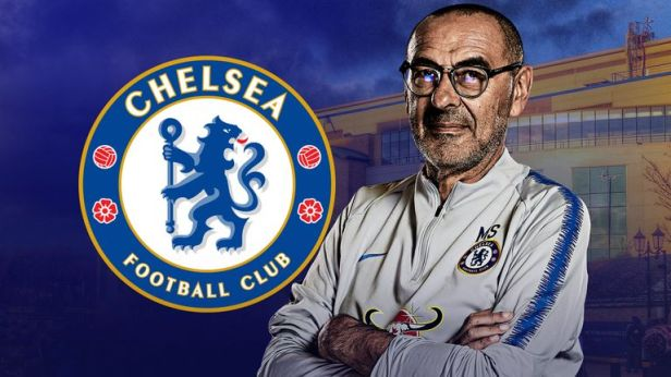 Image result for Chelsea logo and sarri