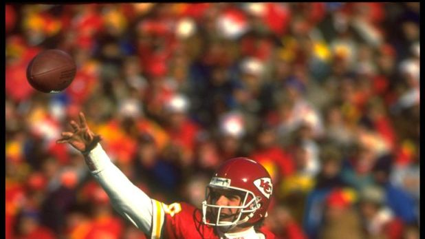 Joe Montana was quarterback for the Chiefs the last time they won a home playoff game