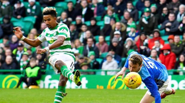Scott Sinclair's treble was his second hat-trick of the season after another at Aberdeen in December