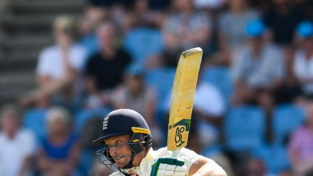 Jos Buttler made his second half-century of the Test