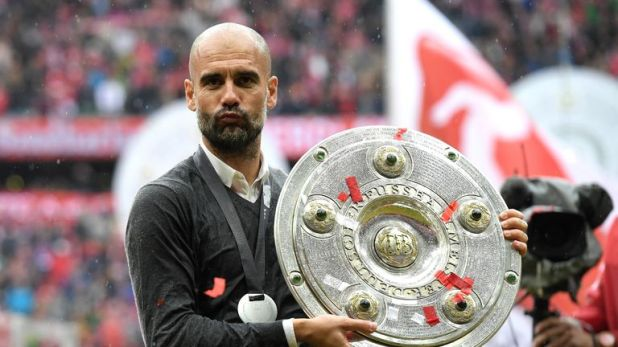 Guardiola won three Bundesliga titles, but could not guide Bayern to the Champions League