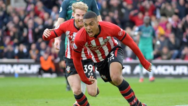 Yan Valery equalises for Southampton at home to Tottenham