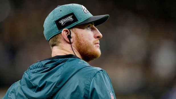 Carson Wentz says the stress fracture he suffered in his back last season still has not fully healed