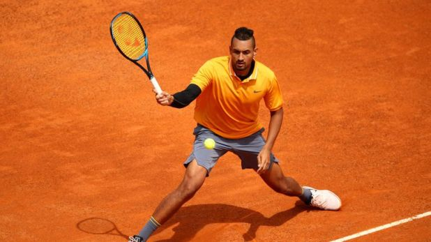 Nick Kyrgios was given a game penalty for allegedlyswearing at a line judge
