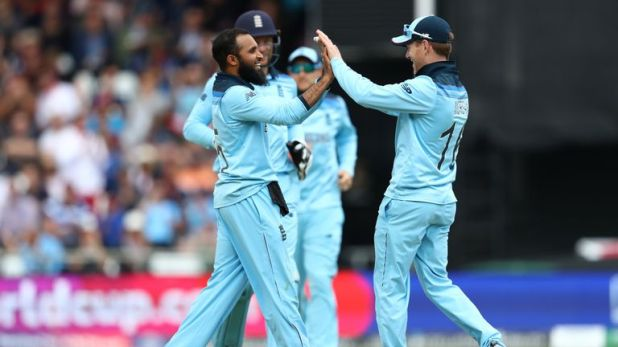 Adil Rashid got England back on track with two wickets in an over