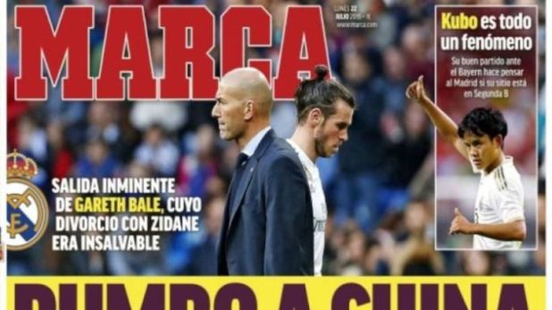 Marca are reporting Bale is 'heading to China'