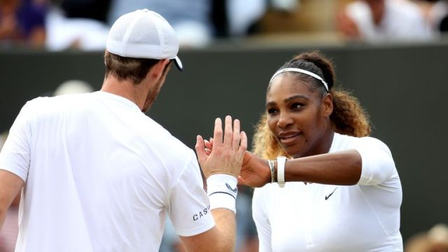 Murray made it to the third round of the mixed doubles with Serena Williams at Wimbledon