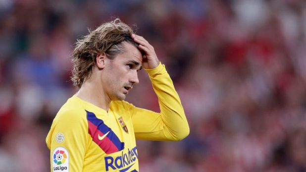 Antoine Griezmann endured a frustrating night at San Mames