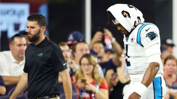 Newton was forced to leave Carolina's preseason game against New England